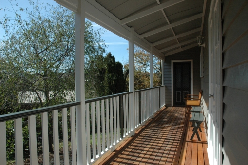 Side verandah - often a quiet spot to sit in the sun or shade